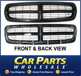 New Grille Assembly Grill Black Dodge Dakota 2004 2003 2002 2001 2000