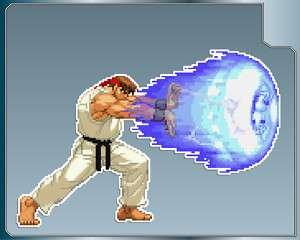 RYU HADOUKEN Blast Street Fighter vinyl decal sticker