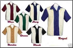 NEW Vintage Retro Rockabilly ROC 80S Bowling Shirt