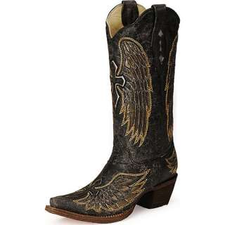 Corral Ladies Angel Wing and Cross Cowgirl Boots A1967