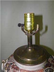 ANTIQUE JAPANESE SATSUMA VASE LAMP FIGURAL