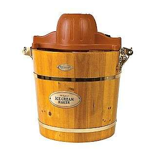 Quart Wooden Bucket Electric Ice Cream Maker  Nostalgia Electrics