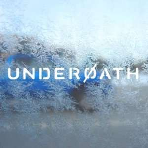 Underoath White Decal Rock Band Car Window Laptop White