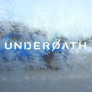 Underoath White Decal Rock Band Car Window Laptop White
