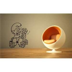 THE SMURFS WALL ART MURAL STICKER BABY ROOM M393