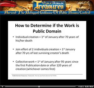 Public Domain Treasures   Video Tutorials CD + Public Domain Cash
