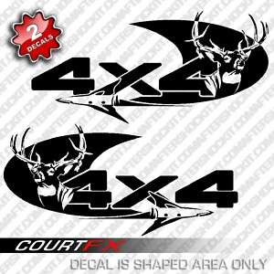 4x4 Deer Archery Arrow Truck Decal