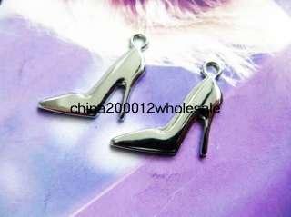 50pcs 31x15mm High heel Shoe DIY Hang charms Pendant Fit key Chain