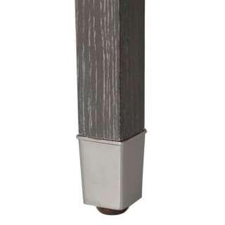 Gray Limed Oak/Polished Nickel Side End Table |