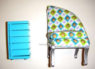 Barbie Doll Sized Furniture Chair and Dresser For Dolls Deboxed