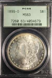AUTHENTIC 1899 O MORGAN SILVER DOLLAR UNC HIGH MS COIN HOLDER #679
