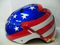 BICYCLE HELMET USA FLAG SKATEBOARD BIKE NEW