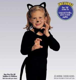KIDS Child CAT Ears TAIL Kitty Halloween Costume Black