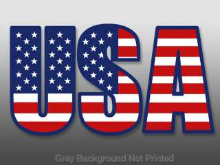 USA Individual Letters American Flag Sticker  decal us