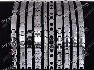 jewelry Lots Multi Styles Stainless Steel Silver Charm Men Bracelets