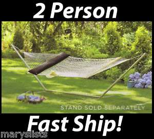 New Home Double Rope Hammock w/ Pillow Spreader Bar