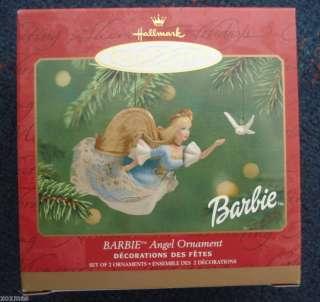 Hallmark Christmas Ornament Barbie Angel & Dove 2pc