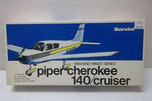 BANDAI 1/48 PIPER CHEROKEE 140 PLASTIC MODEL KIT 8515P