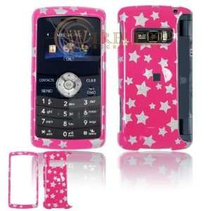 LG EnV3 VX9200 Cell Phone Deisgn Hot Pink/Silver Stars Protective Case