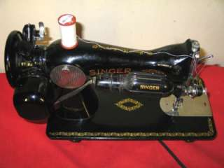 STRENGTH SINGER 15 91 SEWING MACHINE, Gear Driven w/accessories