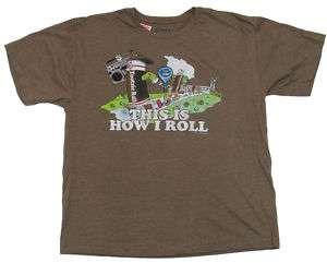 SAVVY Brown Vintage Tootsie Roll Tee Shirt Boys XL