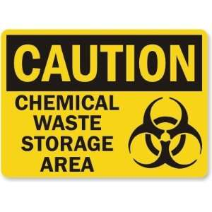 : Chemical Waste Storage Area (with graphic) Laminated Vinyl Sign