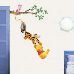 Winnie The Pooh Baby Nursery Room Wall Sticker Decoration tree tiger