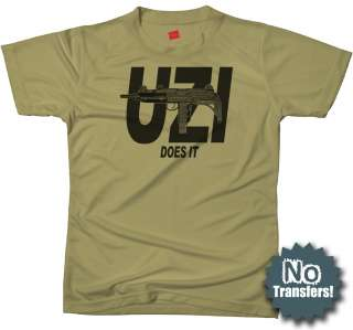 UZI Does It Israel Cool Retro Army IDF New NWT T shirt