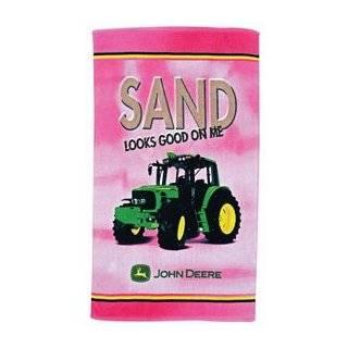 John Deere Pink Sand s Good Beach owel