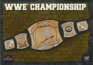 Topps WWE Slam Attax Mayhem WWE Championship Belt Foil