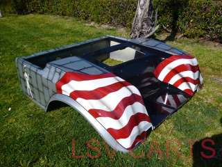CLUB CAR DS GOLF CART CUSTOM AMERICAN FLAG PIN UP GIRL Front Rear Body