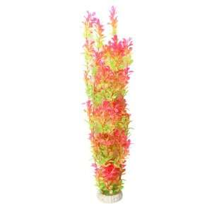 Como 19 Height Shocking Pink Green Plastic Long Plants