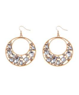 Crystal (Clear) Glamour Stone Disc Earrings  248956090  New Look