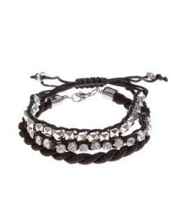 Black (Black) Black Twist Friendship Bracelet  255448901  New Look