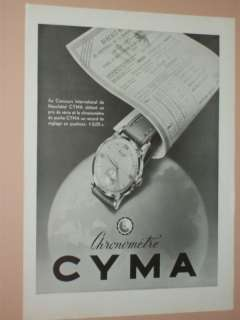 1949 1956 CYMA FRENCH & AMERICAN WATCH ADS MENS AND LADIES WATCHES