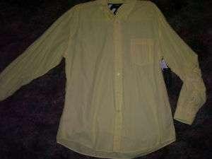 NWT Mens XL Tommy Hilfiger yellow buttonup oxford shirt