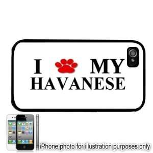Havanese Paw Love Dog Apple iPhone 4 4S Case Cover Black