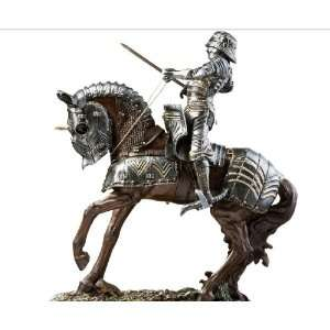 14 Classic Silver Medieval Knight Sculpture Statue