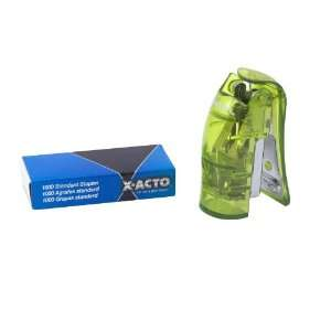 ACTO Mini StandUp Manual Stapler, Green (73011)