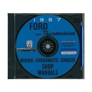1957 FORD Car Shop Service Manual Book CD