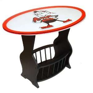 Cleveland Browns Logo End Table: Sports & Outdoors