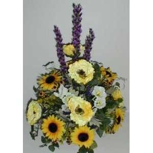 24 Poppy, Sunflower, and Spike Flower Arrangement