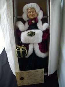 1998 Christmas JENA Bisque PORCELAIN Doll w/ COA |
