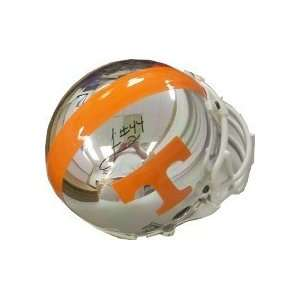 /Hand Signed Tennessee Vols Chrome Mini Helmet Sports Collectibles