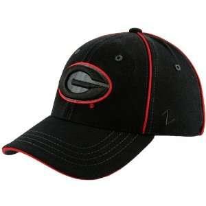 Zephyr Georgia Bulldogs Black Abyss Zfit Hat:  Sports
