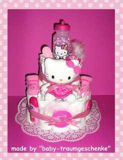 BABY TRAUM WINDELTORTE ♥♥ mit Hello Kitty Figur & Flasche