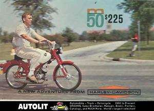 1965 Harley Davidson 50 M50 Moped Motorcycle Brochure