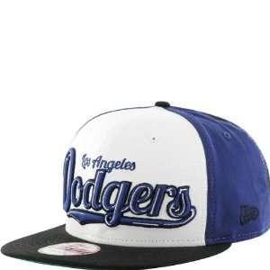 New Era L.A. Dodgers White Blue Black 9FIFTY Script Wheel