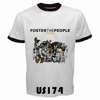 Foster The People Torches Black White Ringer Custom T Shirt S 3XL