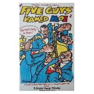 FIVE GUYS NAMED MOE (ORIGINAL BROADWAY THEATRE WINDOW CARD